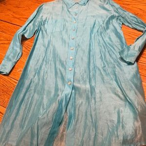 Chico's teal long top.  Size Medium